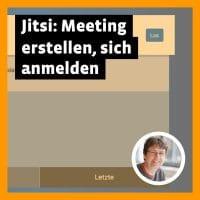 Beitragsbild »Jitsi: Meeting erstelle, sich anmelden«