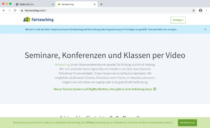 BigBlueButton-Tutorial: fairteaching.net-Server