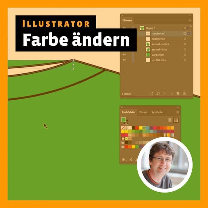 Beitragsbild zu Videotutorial »Illustrator: Farbe ändern«