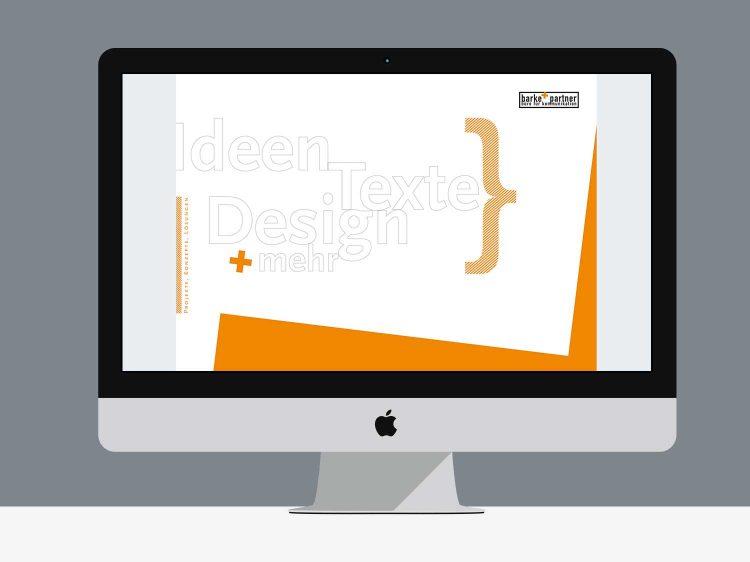 Grafikdesign Arbeitsbeispiel Imagebroschüre