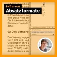 Beitragsbild Videotutorial InDesign: »Absatzformate«