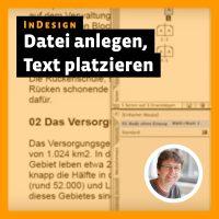 Beitragsbild Videotutorial InDesign: »Datei anlegen, Text platzieren«