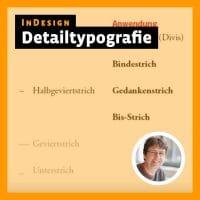 Beitragsbild Videotutorial InDesign: »Detailtypografie«
