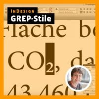 Beitragsbild Videotutorial InDesign: GREP-Stile