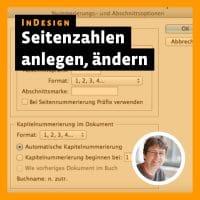 Beitragsbild Videotutorial »InDesign Seitenzahlen: anlegen, ändern, zwei auf einer Seite«