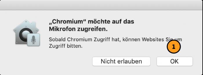 Zugriff von Browser auf Mikro erlauben