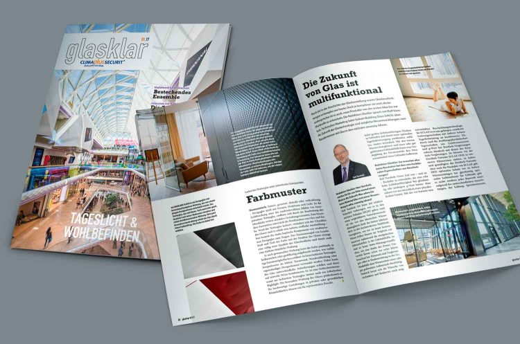 Arbeitsprobe Grafikdesign / Layout: Kundenmagazin »glasklar«