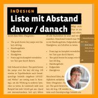 Tutorial zu InDesign: Liste mit Abstand davor / danach