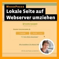 Beitragsbild zum Tutorial »WordPress: Lokale Seite auf Webserver umziehen«