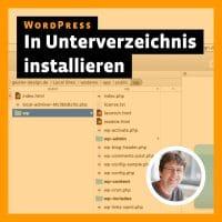 Beitragsbild »WordPress in ein Unterverzeichnis installieren«