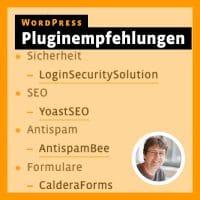 Beitragsbild für Blogbeitrag: WordPress – Pluginempfehlungen
