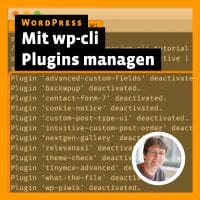 Beitragsbild »WordPress: mit wp-cli Plugins managen«